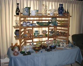 Several nice glass and pottery pieces