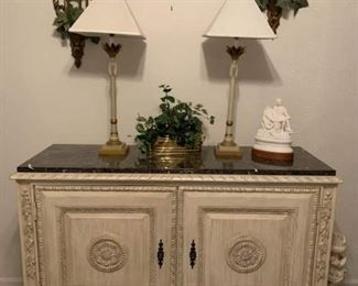 01 white entry hall chest