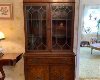 "#5	Antique china cabinet 35""x16""x72""	 $75.00"