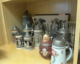 German steins purchased in the 1950s-1960s.