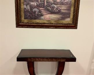 Wooden console $100 Painting $80