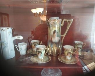 Antique Victorian Pitcher Set