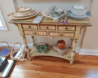 Hand painted decorative table