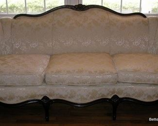 Antique Sheraton Sofa brocade