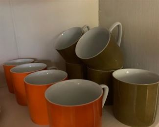 Mid Century Coffee Cups