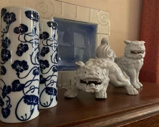 Takahashi Vases, Foo Dogs from OMC