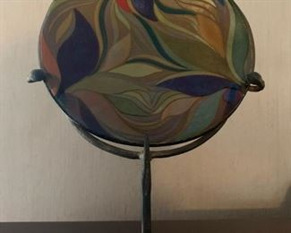 Art Glass Plate on Stand