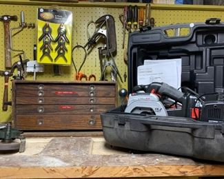 Tools, Wooden Tool Box