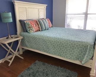 Queen headboard and footboard.  mattress not for sale