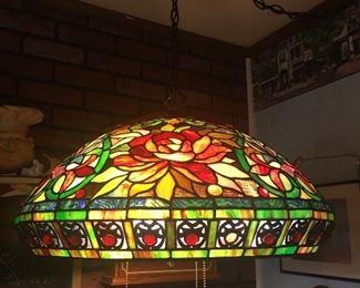 Spectacular large 3 bulb hanging lamp