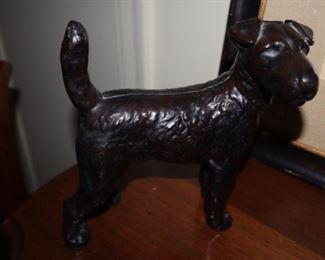 Cast iron Airedale Fox Terrier Door Stop
