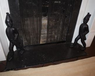 Prussian Soldier Andirons
