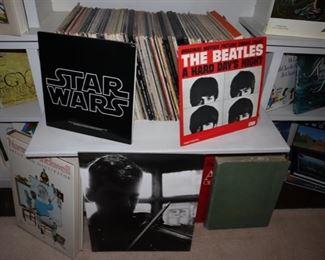 Vintage Vinyl LP's, Beatles, Star Wars