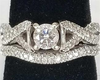 14K White Gold .41 ct Round Brilliant Diamond Ring