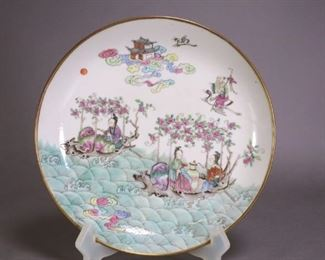 17 Antique Chinese Porcelain Famille Rose Dish,
