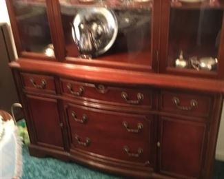 Bottom of Duncan Phyfe China Cabinet