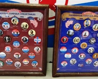 1896-1984 Democratic/Republican Presidential Buttons, (Reproduction)