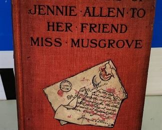 "Antique/Vintage Book- ""The Letters of Jennie Allen to Her Friend Miss Musgrove"""