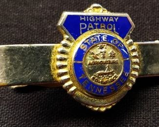 State of TN Highway Patrol Tie Clasp