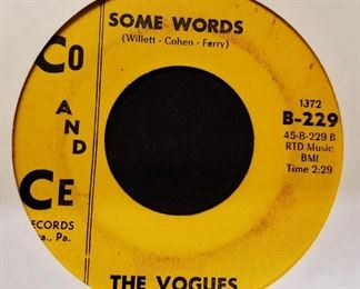 Vintage 45 Record- The Vogues