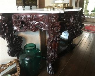 Absolutely GORGEOUS marble top table