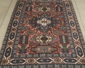 62. Hand Knotted Wool Rug (6' x 4')