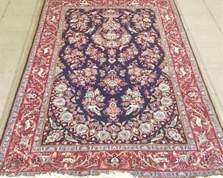 """63. *Hand Knotted Kashan or Qum Rug (7'4"""" x 4'4"""")"""