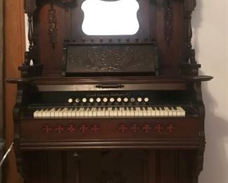 Antique Ball and Stick late 1870's Cornish Company Washington New Jersey Pump Organ