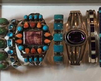Outstanding Native American sterling Jewelry including Roie Jacque, Yazzie and many more!
