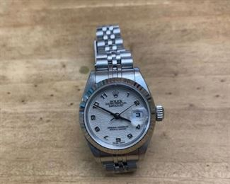 Ladies ROLEX Oyster Perpetual Datejust Stainless Steel Watch