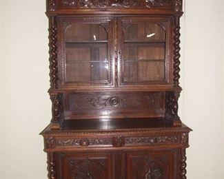 Louis XIII style barleytwist buffet de corpse oak