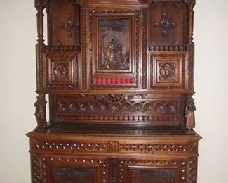 Quality Breton style buffet de corpse two part buffet chestnut