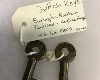 Mid-Late 1900s Burlington Northern Railroad-Keyline Forged Two Switch