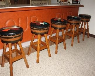 These bar stools are an absolute must have for any Man Cave!