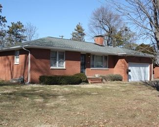 Just over 1,300 square foot all brick ranch has hardwood floors on main level, new roof, two car garage, fenced yard, fireplace.  This beautiful home will be coming to the market within weeks after the estate sale.