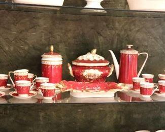 Red Tea Set
