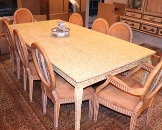 Custom Dining Table with 8 Chairs