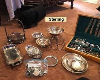 Sterling & Silver Plate Pieces