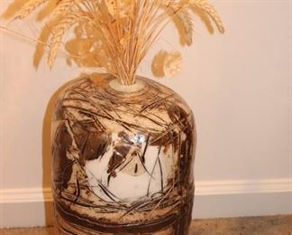 Large Urn with Dried Arrangement