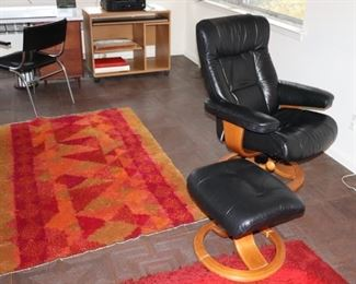 Rugs and Reiki Rugs with Chair and Ottoman