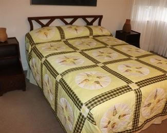 Bed and Pair of Night Stands