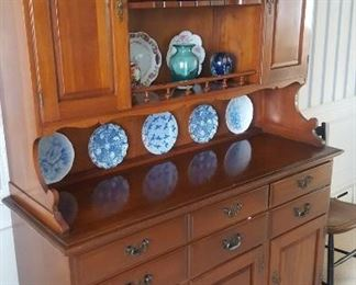 Jamestown Sterling house  Made in Finland Solid Cherry China Hutch. Top is removable