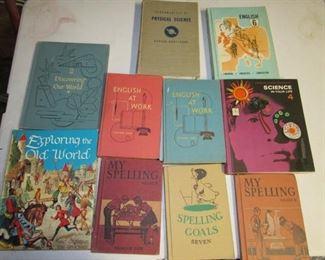 A sampling of hundreds of vintage textbooks!