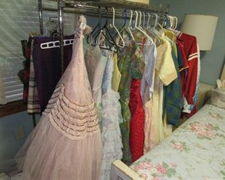 A sample of the many vintage dresses from the 50s, 60s & 70s