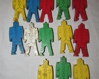Army of wooden clowns