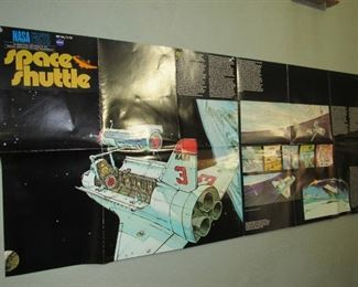 A variety of educational posters