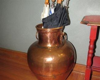 Huge copper urn