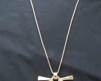 14K yellow gold chain with sunburst pendant... 26g total weight