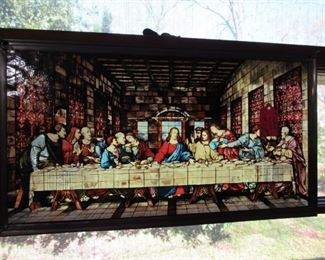 """Leaded glass """"Last Supper"""""""