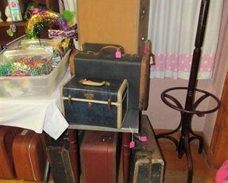 Lots of vintage luggage